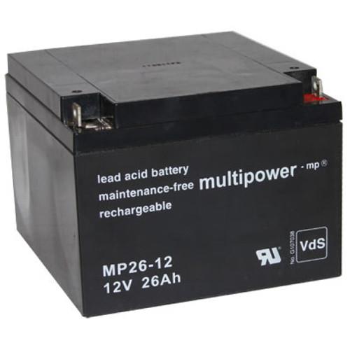Multipower Bleiakku MP26-12 12,0Volt 26,0Ah mit M5 Schraubanschluss