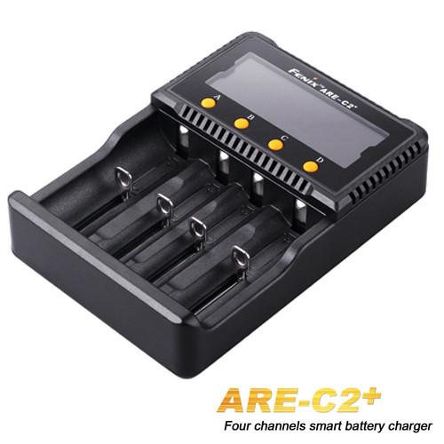 Fenix LCD Schnell-Ladegerät AREC2+ für Li-ion 18650 Akku, AA, AAA, C