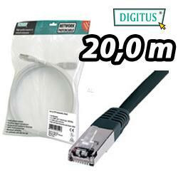 DIGITUS SF/UTP Patchkabel, Kat. 5e, 20m, schwarz