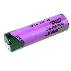 Tadiran SL360/T 3,6V Lithium Batterie AA Mignon mit Lötfahne in U-Form