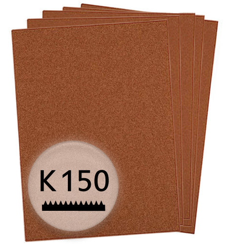 K150 Schleifpapier in 10 Bögen, 230x280mm - für Holz und Farbe