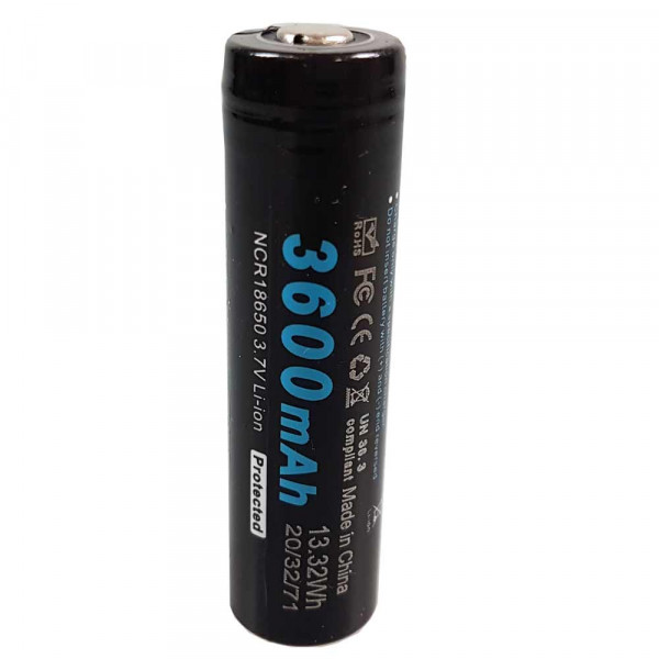 Soshine Li-ion 18650 Protected Akku 3600mAh 3.7V
