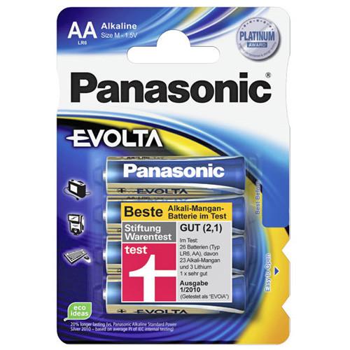 4 Stück - AA Panasonic Evolta Mignon 1,5V LR6EGE/4BP