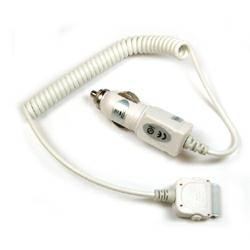 KFZ-Ladekabel passend für Apple iPhone 3G/3GS/4/4S und iPod in Weiss (kein Original)