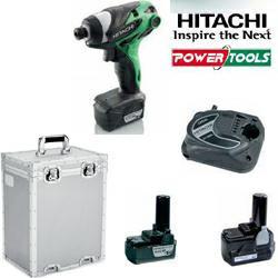 HiKoki Akku-Schlagschrauber WH 10DL 10,8Volt 1,5Ah Li-Ion im Set mit Ladegerät, Koffer und 1x Akku m