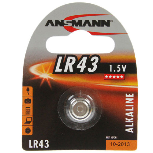 Ansmann LR43 Knopfzellen Batterien, 12GA, 186, 84, LR1142