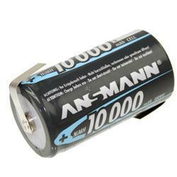 ANSMANN Mono (D) Akku NiMH 10000mAh mit Lötfahnen in Z-Form