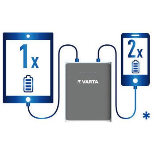 Varta Powerbank Akku 6000mAh Li-Ion für mobile Geräte wie Smartphone & Tablet