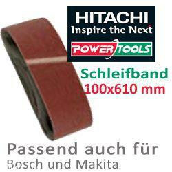 HiKoki Schleifpapier Schleifband 100x610mm K80