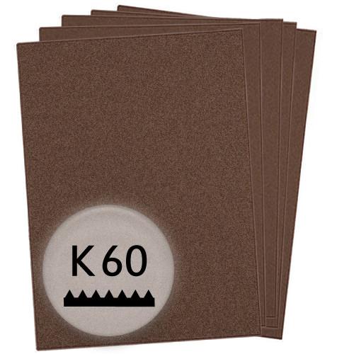K60 Schleifpapier in 10 Bögen, 230x280mm - für Metall und Stahl