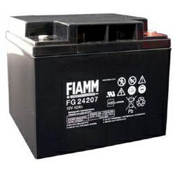 FIAMM Bleiakku FG24207 mit 12,0Volt 42Ah Rundstecker, versenkter Schraubanschluß