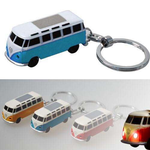 VW Bulli LED-Schlüsselanhänger Volkswagen Typ1 (1962) in blau