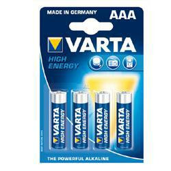 VARTA Micro Batterie LR03 High Energy Micro - 4er Blister