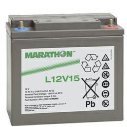 Exide Marathon L12V15 Bleiakku 12,0Volt 14,0Ah mit M6 Schraubanschluss