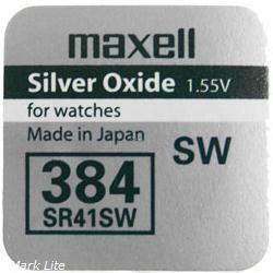 Maxell Silberoxid-Knopfzelle SR41SW / V384