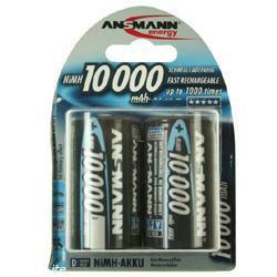 Ansmann Professional Mono (D) Akku 1,2Volt 10000mAh NiMH im 2er Blister