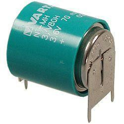 Varta Knopfzellenakku 3/V80H Säule KM 3,6Volt 80mAh NimH mit 3er Printanschlüssen