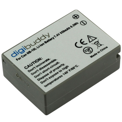 Akku passend für Canon NB-10L 7,4Volt 850mAh Li-Ion (kein Original)