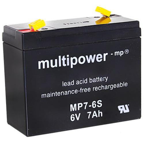 Multipower Bleiakku MP7-6S 6V 7Ah Faston 4,8mm