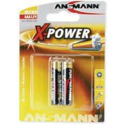 Ansmann X-Power Alkaline Micro (AAA) LR03 Batterie 1,5Volt im 2er Blister