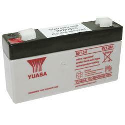 Yuasa Bleiakku NP1.2-6 6,0Volt 1,2Ah mit 4,8mm Steckanschlüssen