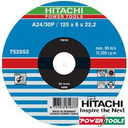 HiKoki Schruppscheibe A24/30P 125 x 6 x 22,2 mm für Metall (25Stk.)
