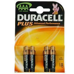 Duracell MN2400 Plus im 4-er Blister AAA (Micro) 1,5 Volt AlMn