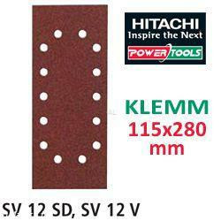 HiKoki Schleifpapier SP f. Klemm Schwingschleifer 115x280 K100