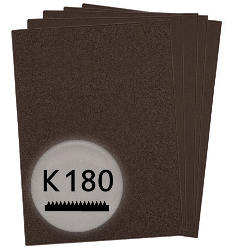 K180 Schleifpapier in 10 Bögen, 230x280mm - für Lack und Auto, wasserfest