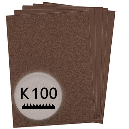 K100 Schleifpapier in 50 Bögen, 230x280mm - für Metall und Stahl