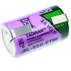 Tadiran SL550/S Lithium 1/2 AA (Mignon) mit Lötfahne in U-Form