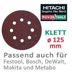 HiKoki Schleifpapier SP f. Klett Exzenterschleifer ø125 K60