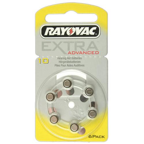 RAYOVAC Hörgeräte-Batterien R10AE Extra Advanced vom Typ 10 (im 6er Pack)