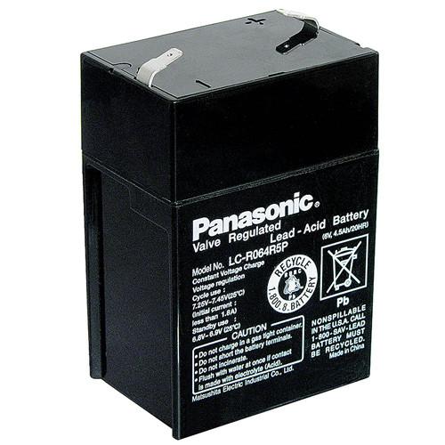 Panasonic Bleiakku LC-R064R5P 6,0Volt 4,5Ah mit 4,8mm Steckanschlüssen