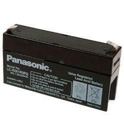 Panasonic Bleiakku LC-R061R3PG 6,0Volt 1,3Ah mit 4,8mm Steckanschlüssen