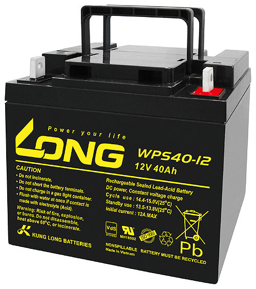 40Ah WPS40-12 SLA 12V Bleiakku mit VDS Zulassung
