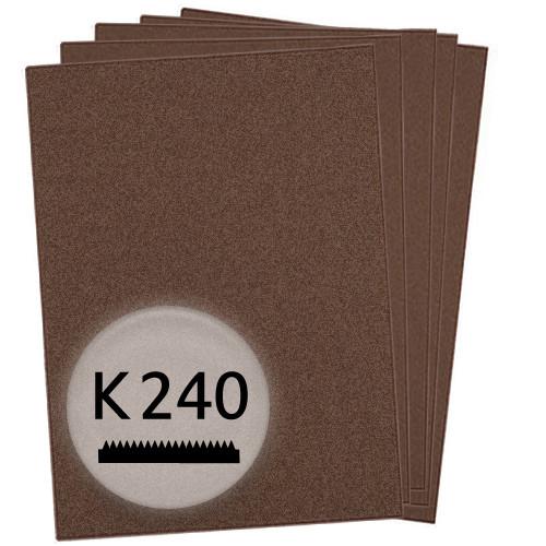 K240 Schleifpapier in 10 Bögen, 230x280mm - für Metall und Stahl