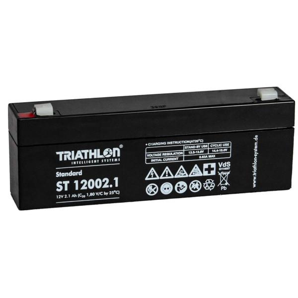Triathlon Bleiakku 12V / 2,1Ah ST 12002.1 VdS Zulassung