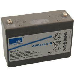 Exide Sonnenschein Bleiakku Dryfit A504/3.5S 4,0Volt 3,5Ah mit 4,8mm Steckanschlüssen