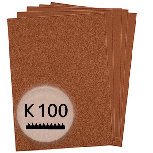 K100 Schleifpapier in 10 Bögen, 230x280mm - für Holz und Farbe
