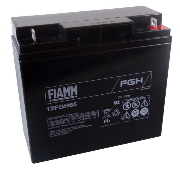 FIAMM Hochstrom Bleiakku 12FGH65 (FGH21803) 12 Volt 18 Ah mit M5 Schraubanschluss