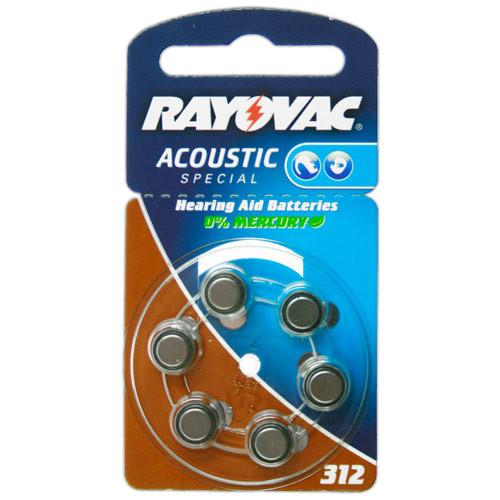 RAYOVAC Hörgeräte-Batterien HA312 Acoustic Special vom Typ 312 (im 6er Pack)