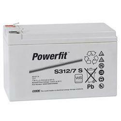 Exide Bleiakku Powerfit S312/7S 12,0Volt 7Ah mit 4,8mm Steckanschlüssen