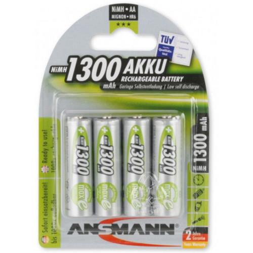 Ansmann NiMH Akku Mignon AA 1300mAh maxE 4er Blister