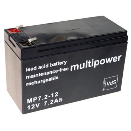 Multipower Bleigel-Akku MP7.2-12 12,0Volt 7,2Ah mit 4,8mm Steckanschlüssen