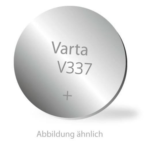 337 Knopfzelle Varta V337 Silberoxid 1,55 Volt