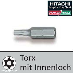 HiKoki Bits 10St. Bit Type: 8er Torx mit Innenloch, 25mm (400.160.45)