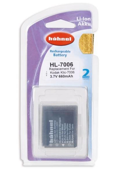 Hähnel Akku passend für Kodak KLIC-7006 3,7Volt 660mAh Li-Ion (kein Original)