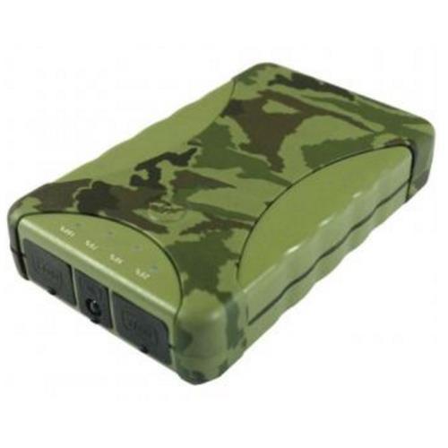 Outdoor Powerbank Camouflage 10400mAh Li-Ion Akku für Smartphones