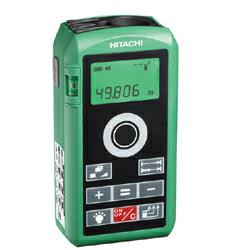 HITACHI Laser Entfernungsmesser UG 50Y Digital-Lasermessgerät inkl. Batterie, Tasche & Trageriemen